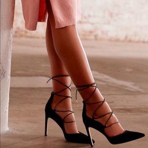 Anthro   Sam Edelman 'Helaine' Lace Up Stilettos